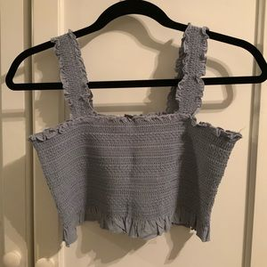 Kendall & Kylie Smocked Cropped Tank